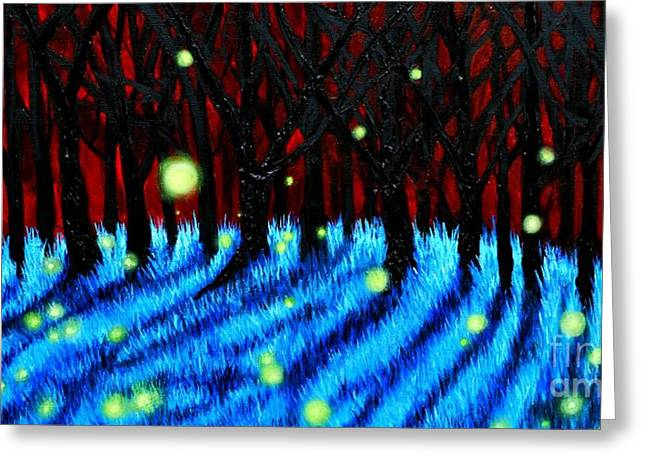 Lightning Bugs 2 Greeting Card