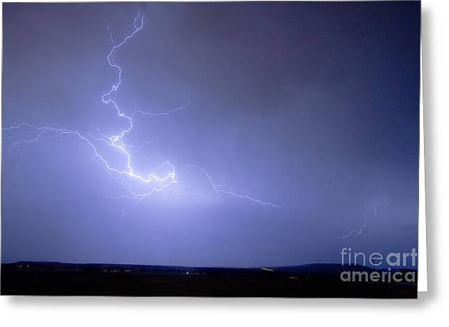 Lightning Goes Boom In The Middle Of The Night Greeting Card by James BO  Insogna