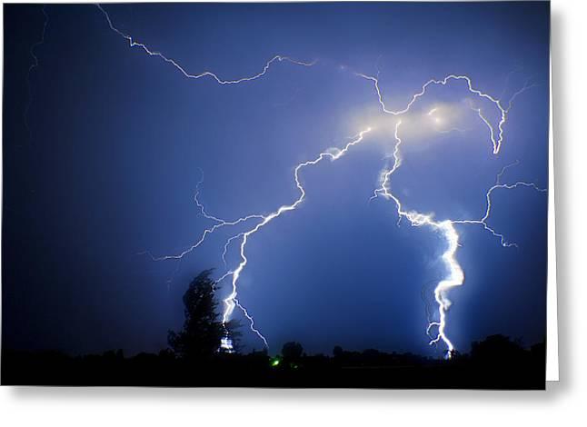 Lightning In Montrose Colorado Greeting Card