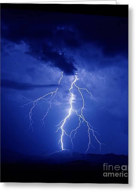 Lightning Greeting Card by K Kent