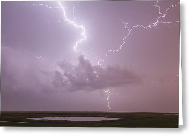 Lightning Over Cheyenne Bottoms Greeting Card