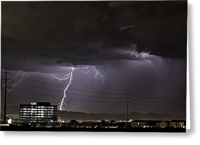 Lightning Over Las Vegas Greeting Card
