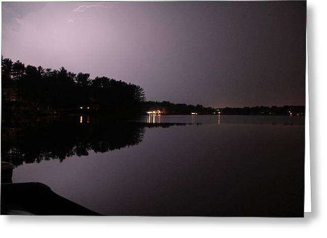 Lightning Over Water Greeting Card by Sarah Klessig