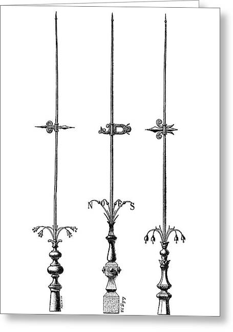 Lightning Rods Greeting Card by Science Photo Library