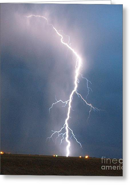 Lightning Roots Greeting Card by Christian Jansen