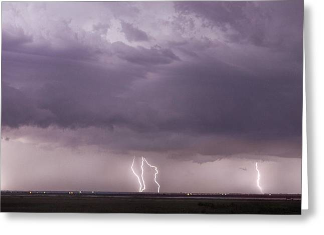Greeting Card featuring the photograph Lightning Storm by Rob Graham