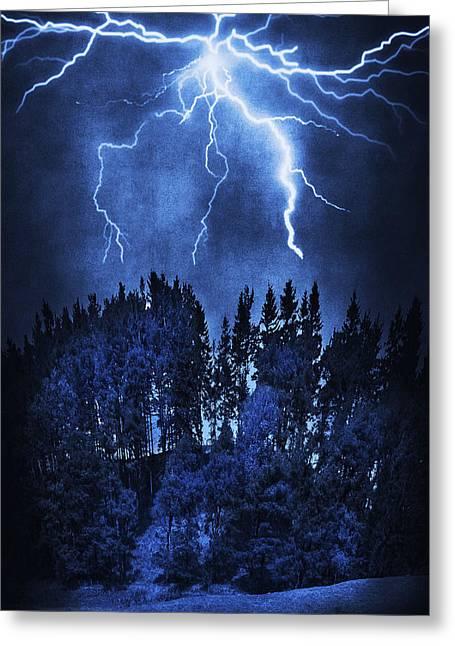 Lightning Greeting Card by Svetlana Sewell