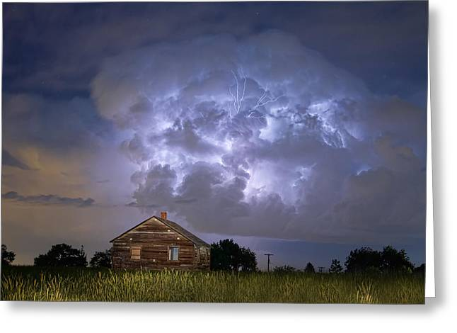 Lightning Thunderstorm Busting Out Greeting Card by James BO  Insogna