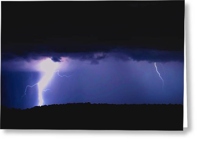 Lightning4 Greeting Card by Kyle Wood