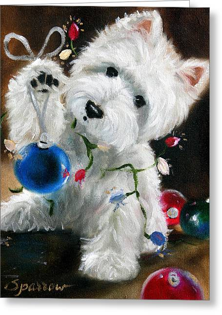 Lights And Balls Greeting Card by Mary Sparrow