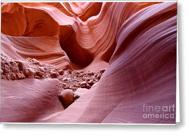 Lights And Rocks In The Canyon Greeting Card by Ruth Jolly