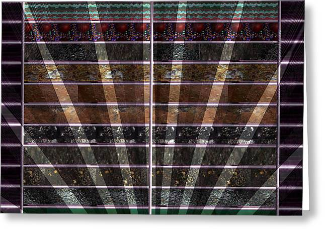 Lights And Shades Through Venetian Blinds  Graphicart Abstract Greeting Card