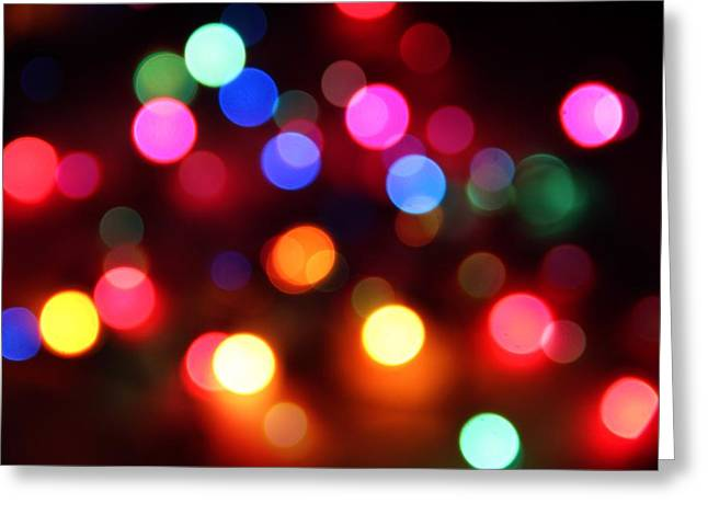 Greeting Card featuring the photograph Lights by Elizabeth Budd