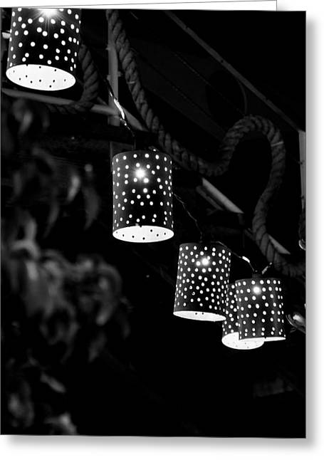 Lights Greeting Card by Gandz Photography
