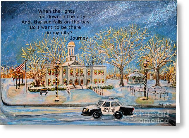 Lights Go Down  Greeting Card by Rita Brown