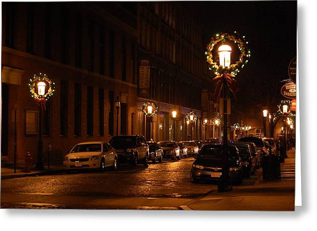 Lights Lowell Ma At Christmas II Greeting Card