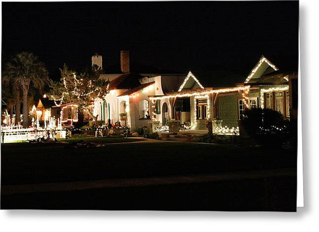 Lights Greeting Card by Michael Gordon