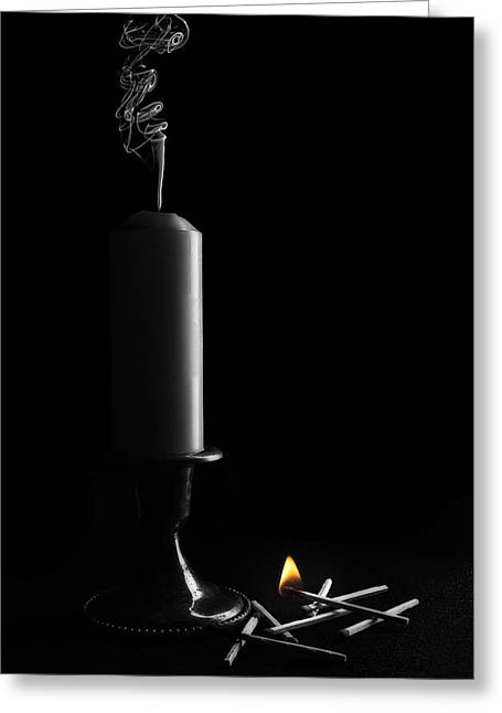 Lights Out Still Life Greeting Card by Tom Mc Nemar