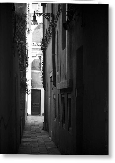 Light's Passage - Venice Greeting Card by Lisa Parrish