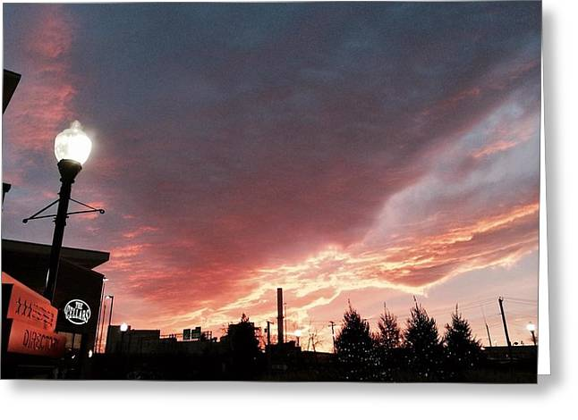 Greeting Card featuring the photograph Lights The Whole Sky by Toni Martsoukos