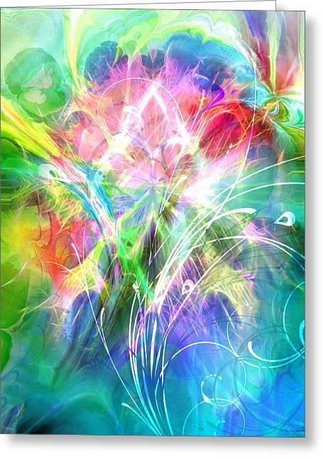 Lightsinfonia Greeting Card by Lutz Baar