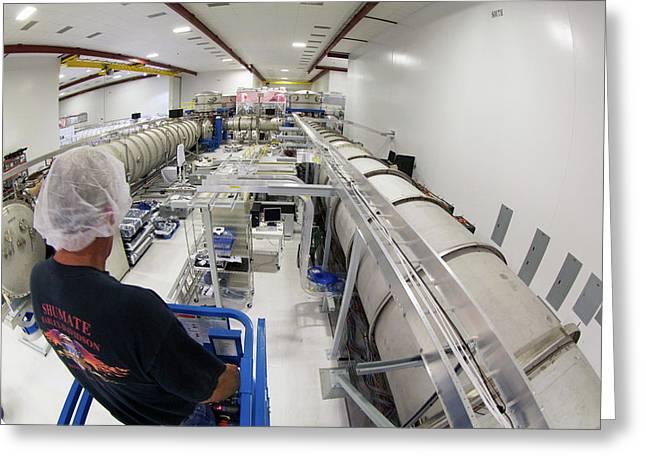 Ligo Gravitational Wave Detector Laser Greeting Card by Caltech/mit/ligo Lab