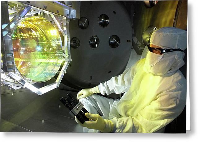 Ligo Gravitational Wave Detector Optics Greeting Card by Matt Heintze/caltech/mit/ligo Lab