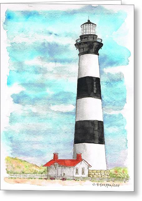 Ligthhouse Bodie Island, North Carolina Greeting Card