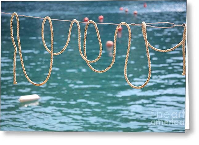Greeting Card featuring the photograph Ligurian Loops  by Lynn England
