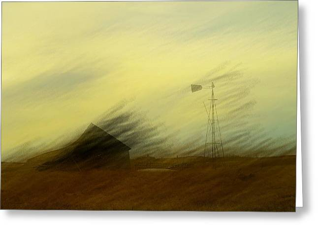 Like A Memory In The Wind Greeting Card by Jeff Swan