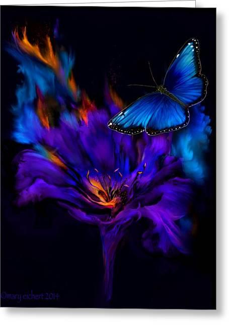 Like A Moth To A Flame Greeting Card