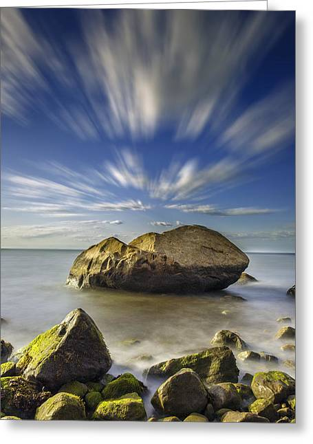 Like A Rock Greeting Card by Rick Berk