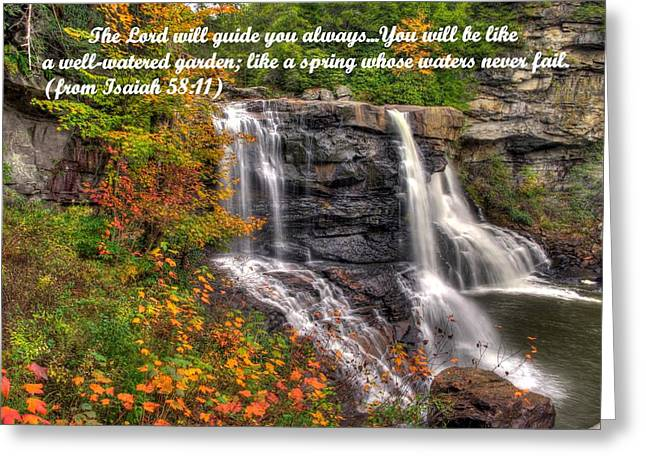 Like A Spring Whose Water Never Fails - Isaiah 58. 11 Greeting Card by Michael Mazaika