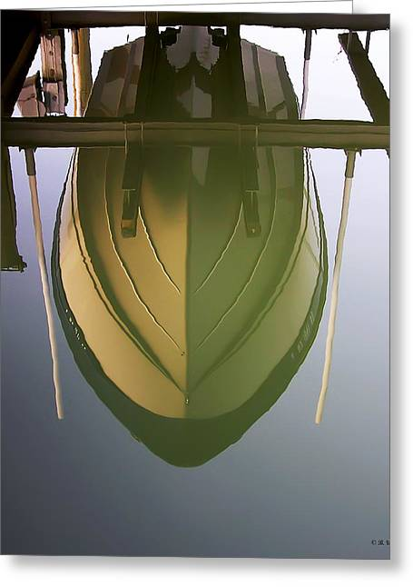 Like Glass Greeting Card by Brian Wallace