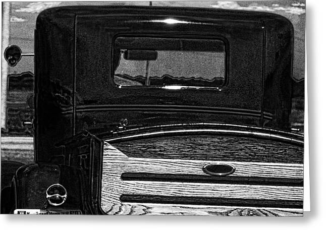 Lil Black Antique Pick Up Truck Greeting Card by Lesa Fine