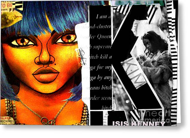 Lil Kim The Making Of A Queen Bee Greeting Card by Isis Kenney