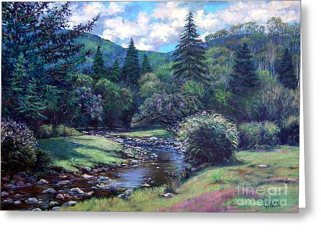 Lilac Brook Greeting Card by Gerard Natale