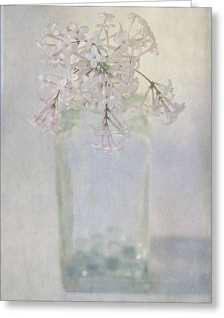 Greeting Card featuring the photograph Lilac Flower by Annie Snel