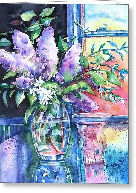 Lilac Light Greeting Card by Trudi Doyle
