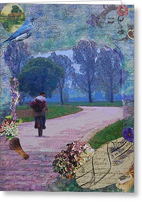 Lilac Man Greeting Card
