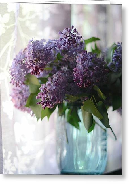 Greeting Card featuring the photograph Lilac Morning by Linda Mishler