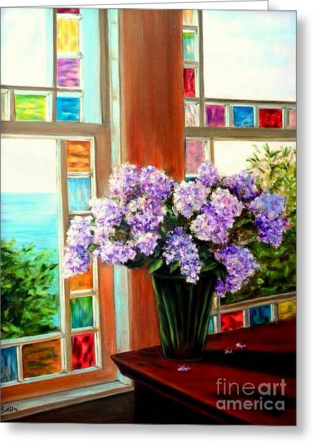 Lilac Reflections Greeting Card