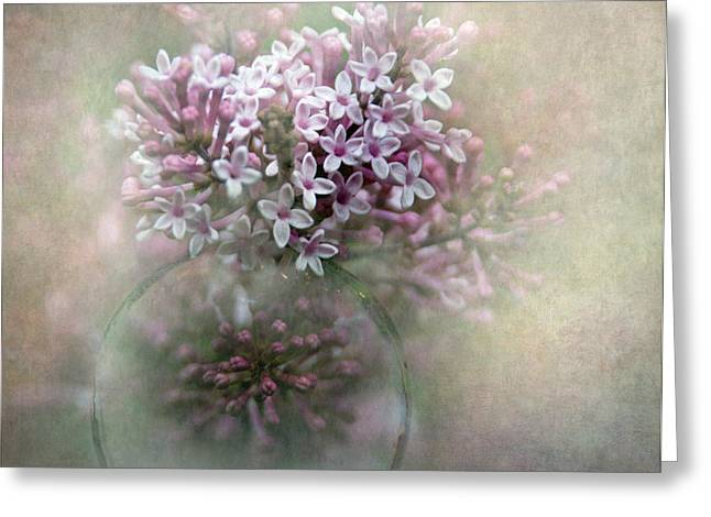 Lilacs For Mom Greeting Card by Angie Vogel