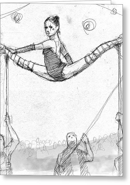 Lili On The Poles. Greeting Card by H James Hoff