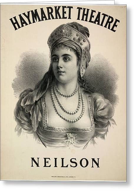 Lilian Adelaide Neilson Greeting Card by British Library