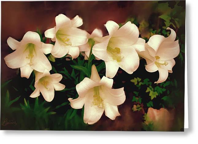 Lilies Aglow Greeting Card