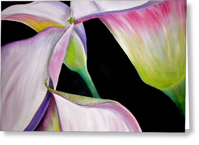 Lilies Greeting Card by Debi Starr