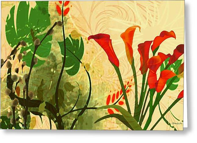 Lilies In The Park Greeting Card by Madeline  Allen - SmudgeArt