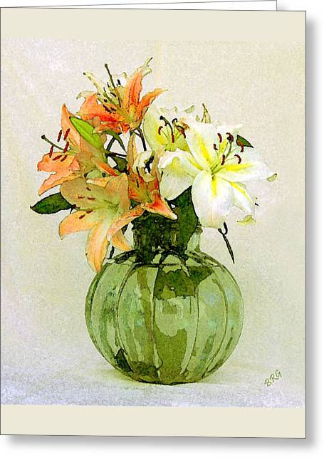 Lilies In Vase Greeting Card