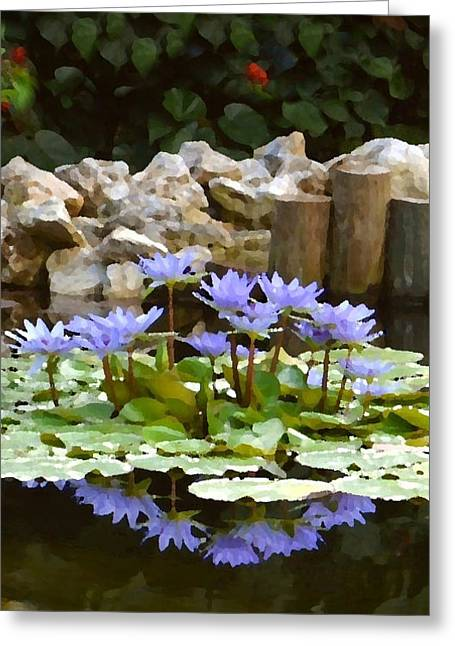Lilies On The Pond Greeting Card